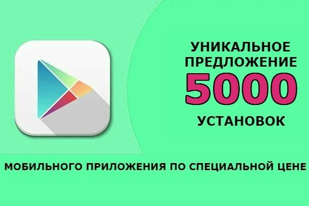 Акция. 5000 установок мобильного приложения из Google PlayMarket 1 - kwork.ru