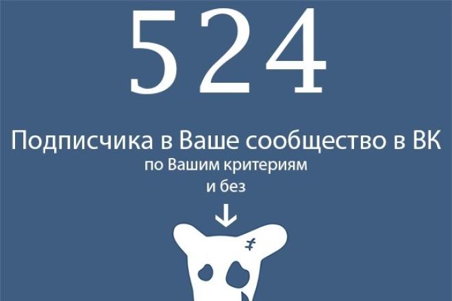524 живых участников в группу ВК. С выбором критериев 1 - kwork.ru