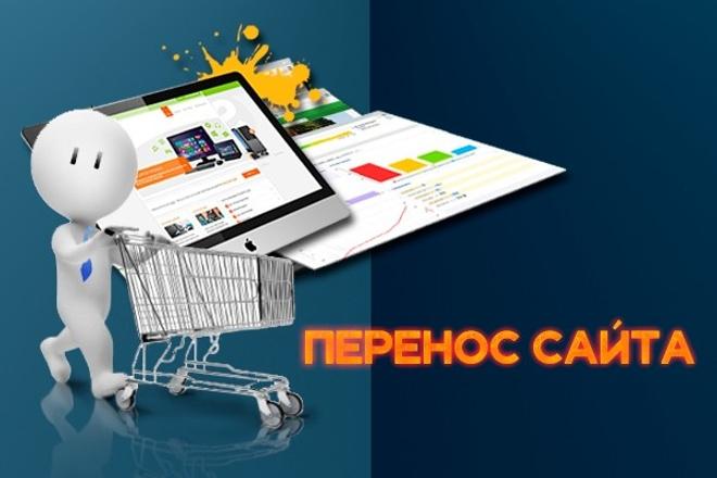 Установлю, или перенесу Ваш сайт на другой хостинг, или домен 1 - kwork.ru