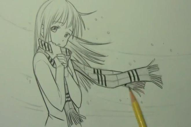 Нарисую аниме персонажа, певца, актера по вашему запросу 1 - kwork.ru