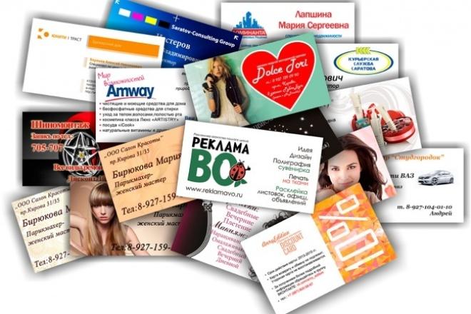 разработаю дизайн визиток для Вас 1 - kwork.ru