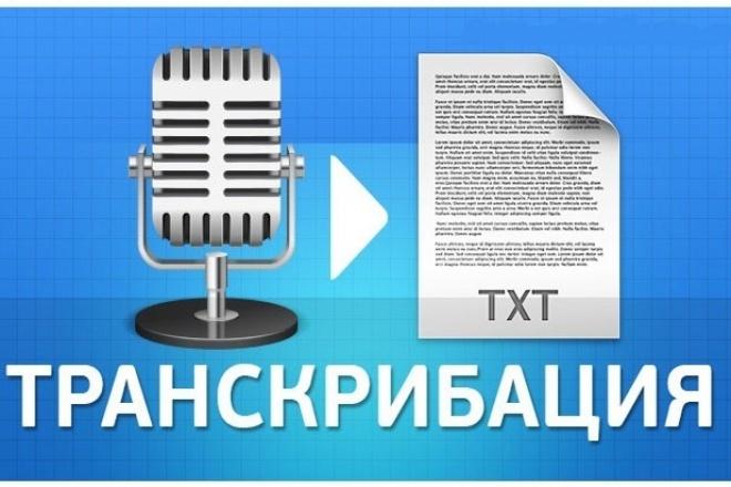 расшифровку аудио- и видеоматериалов (транскрибация) 1 - kwork.ru