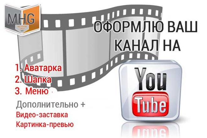 Оформлю канал на YouTubeДизайн групп в соцсетях<br>Оформлю ваш канал на Ютубе. Сделаю шапку, аватарку. Имею опыт работы в фотошопе и графическом дизайне. Опыт от 8 лет.<br>