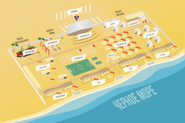 Отрисую картуГрафический дизайн<br>Отрисую карту проезда, карту населенного пункта, просто карту:). Любой сложности, вид сверху, изометрия и т.п.<br>