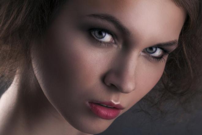 Сделаю красивую портретную ретушьОбработка изображений<br>Итоговый результат зависит от качества исходной фотографии. Чем лучше качество фотографии, тем лучше и красивей результат. Я убираю прыщики, морщинки - если необходимо, делаю цветокоррекцию, накладываю эффекты ( по желанию), немного добавляю макияж ( по желанию)<br>