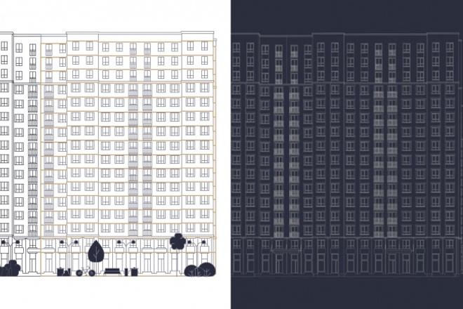 Контурная отрисовка зданий 1 - kwork.ru