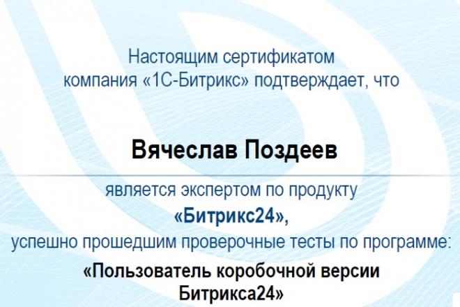 Битрикс24. Обучение, настройка и консультации по bitrix24 1 - kwork.ru