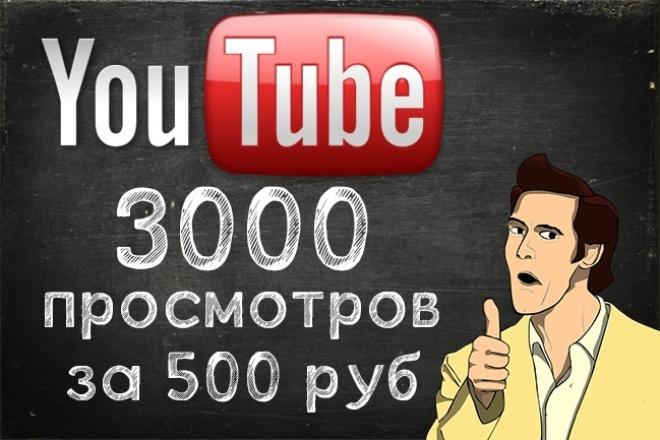 Сделаю 3000 просмотров удержание 80-100% на ваше видео в YouTube 1 - kwork.ru