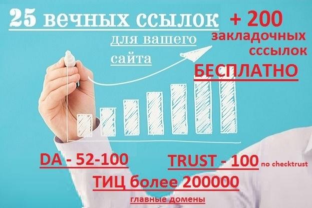25 вечные ссылки с трастовых сайтов 1 - kwork.ru