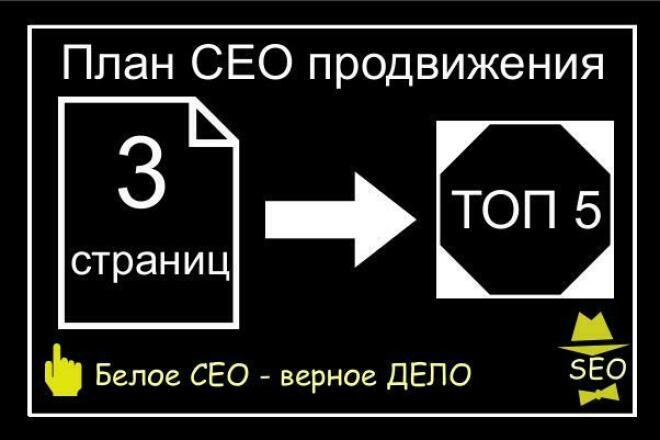 Разработаю план СЕО продвижения 3 страниц в ТОП 5 1 - kwork.ru