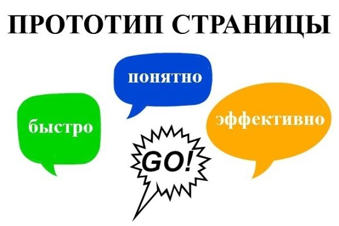 Разработаю прототип 1 страницы сайта 1 - kwork.ru