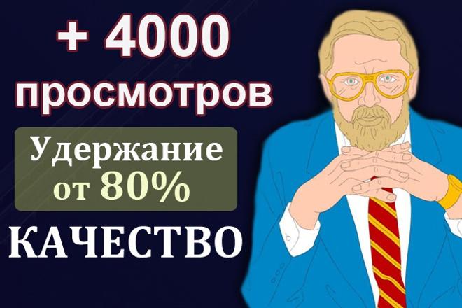 4000 просмотров с удержанием 80 процентов на Youtube, продвижение ютуб 1 - kwork.ru