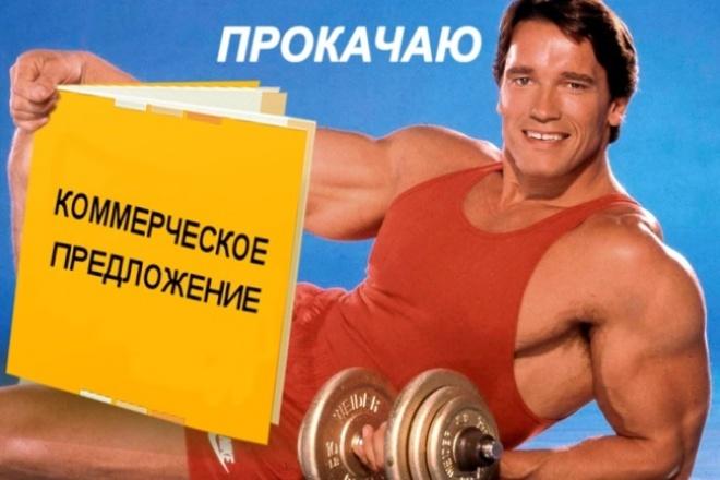 прокачаю ваше коммерческое предложение 1 - kwork.ru
