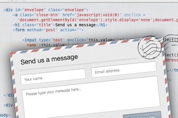 сделаю красивую всплывающую контактную форму для Вашего сайта 1 - kwork.ru