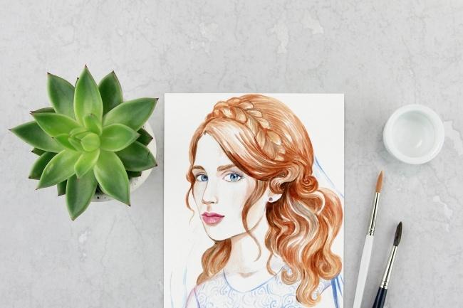 Ваш портрет акварелью 1 - kwork.ru