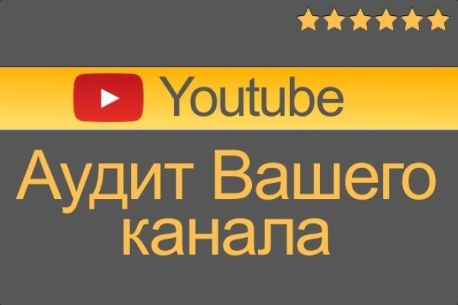 Аудит Вашего канала Youtube ютуб 1 - kwork.ru