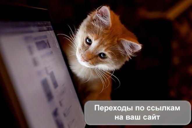 600 переходов по ссылкам ведущим на ваш сайт 1 - kwork.ru