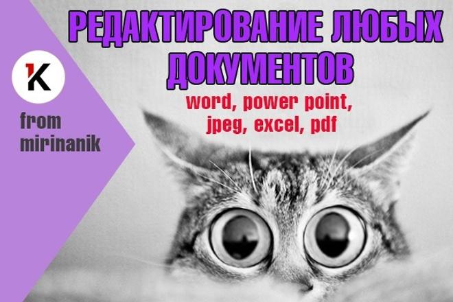 Редакция документов любых форматов, исправления, добавления, правки 1 - kwork.ru