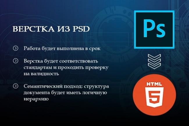 Верстка страницы сайта или лендинга из вашего PSD 1 - kwork.ru