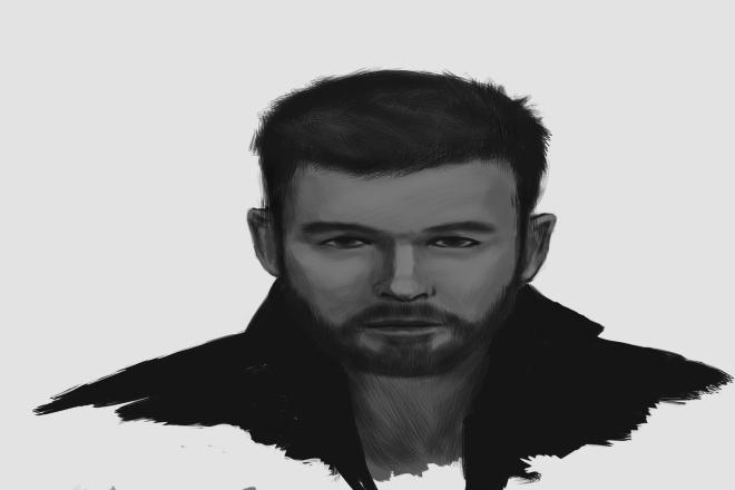 Крутой портрет в фотошопе 1 - kwork.ru