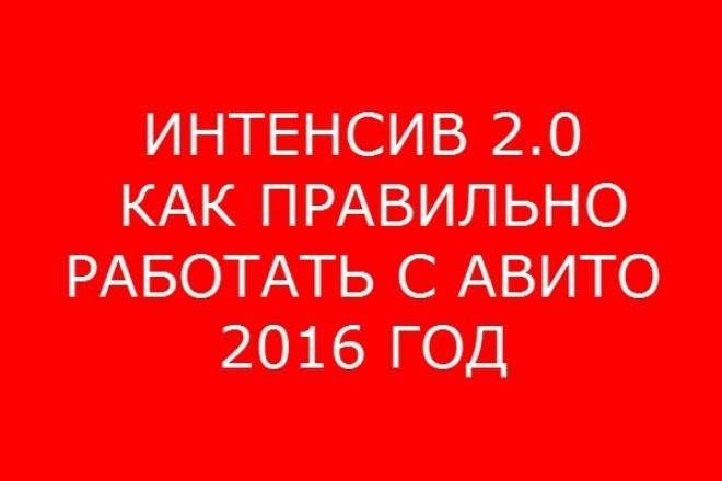 Интенсив авито 2.0 (2016) 1 - kwork.ru