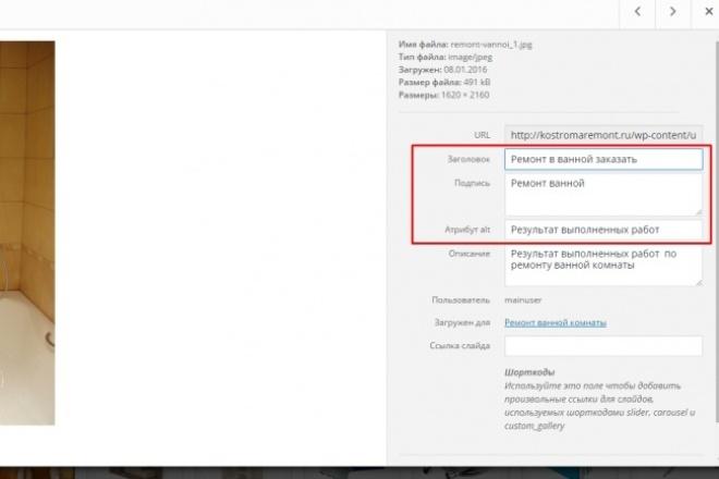 SEO оптимизация картинок 1 - kwork.ru