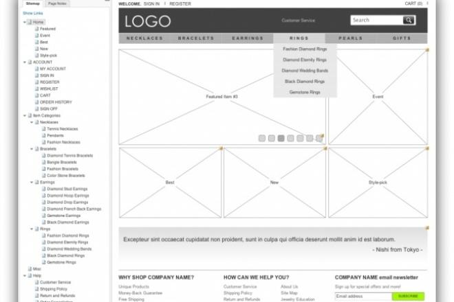 Разработаю интерактивный прототип Axure, проектирование интерфейса сайта 1 - kwork.ru