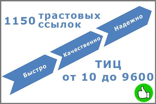 1150 трастовых ссылок с тиц до 9600 1 - kwork.ru