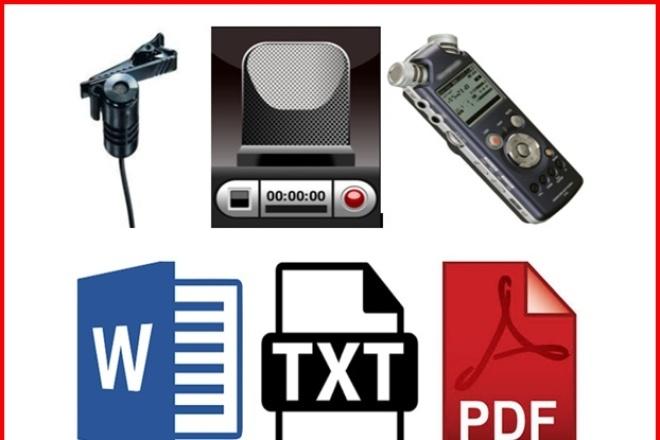 Транскрибация. Грамотный текст из аудио или видео. 40 минут 1 - kwork.ru