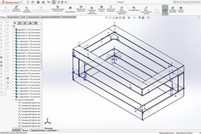 Разработка 3D моделейФлеш и 3D-графика<br>Разработаю 3D модели мебели и не только в программах: Solidworks, 3dmax, Archicad, Autocad. Опыт конструктора мягкой и корпусной мебели. Занимаюсь дизайном интерьера и предметным дизайном. Для разработки необходимо Т.З. Т.З. должно включать габаритные размеры изделия, материалы изготовления, фото аналогичных моделей или узлов модели.<br>