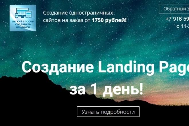 создам лейдинг пейдж 1 - kwork.ru