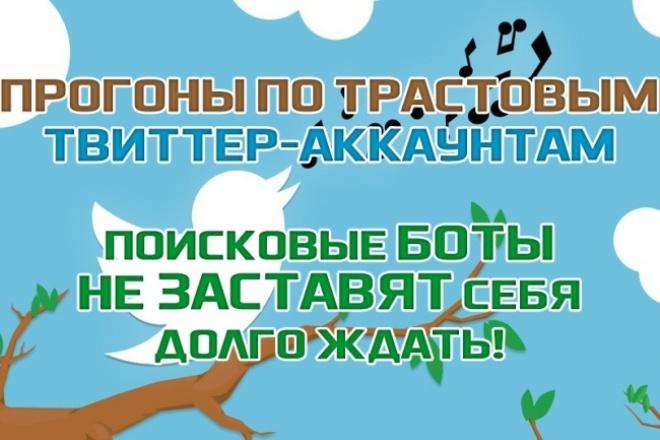 Сделаю эффективный прогон по прокачанным твиттер-аккаунтам. 1 - kwork.ru