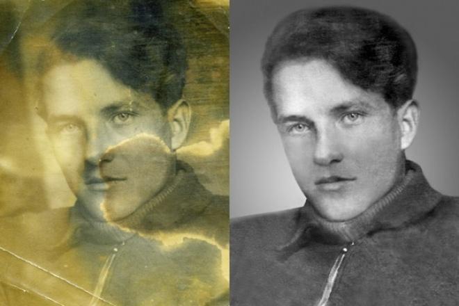 Реставрация старых фото 1 - kwork.ru