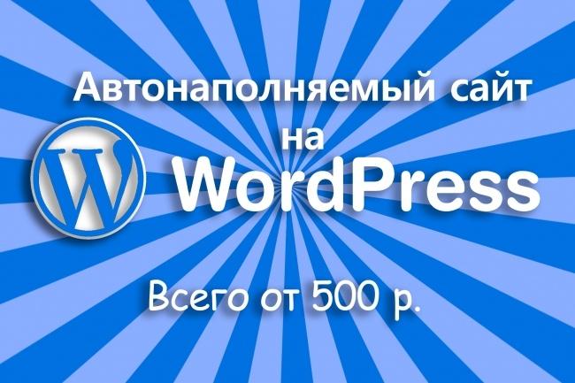 Автонаполняемый сайт под заказСайт под ключ<br>Вы можете оставить заявку на разработку автонаполняемого сайта под заказ. Автонаполнение будет осуществляться через WPGrabber. На сайте будет современный адаптивный красивый веб-дизайн . Функционал автонаполняемого сайта под заказ: а) WordPress последней версии б) плагины из репозитория wordpress в) на сайте будет сделано: — Заголовок (title) — Описание (description) — Ключевые слова (keywords) — Карта сайта . xml — Robots. txt — ЧПУ вида site. ru/postname. html — наличие favicon Установка и настройка дизайна: — шаблон из репозитория wordpress — вычищен код от внешних и скрытых ссылок — устранение уязвимостей Тематика: любая (по желанию заказчика) Количество источников автонаполнения: любое (по желанию заказчика). в один заказ входит 1 лента (источник). Срок выполнения: 1-3 рабочих дня. Язык сайта: под заказ (русский, английский, итальянский, французский, немецкий, португальский, украинский, испанский и др. ), также возможна настройка автоматического переводчика посредством API Яндекс. Переводчик.<br>