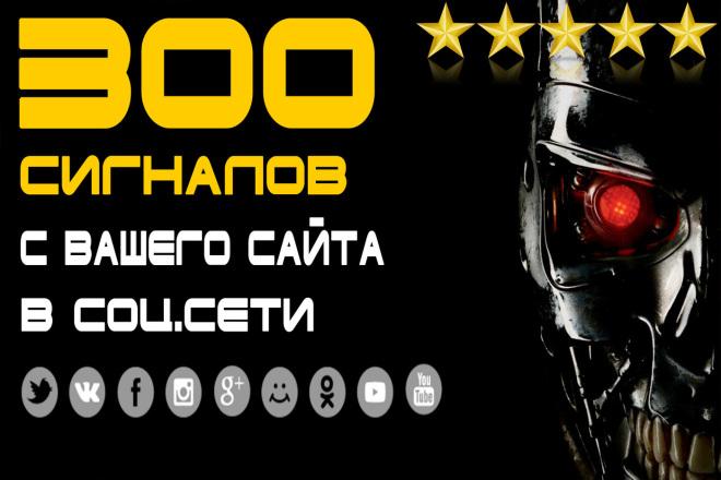 300 сигналов с Вашего сайта в соц. сети ВК , FB, OK, TW ... с отчетом 1 - kwork.ru