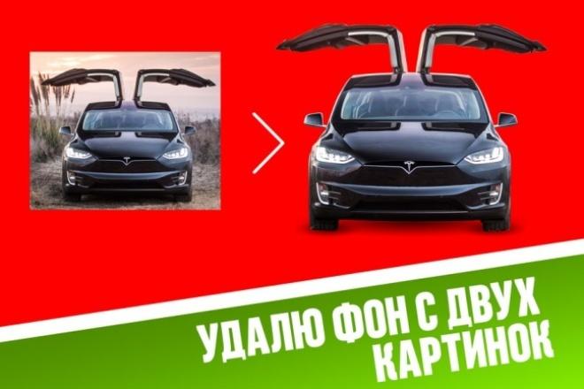 Удалю фон с двух картинок 1 - kwork.ru