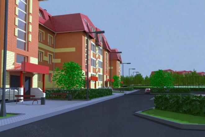 Сделаю 3D модель (экстерьер, интерьер) , текстурирование, визуализацию 1 - kwork.ru