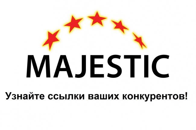 ссылки конкурентов (выгрузка из Majestic) 1 - kwork.ru