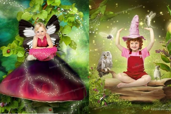 Вставлю вас в готовый коллаж дети верят в чудесаФотомонтаж<br>Изображения с ваших обычных фотографий можно превратить в сказочный сюжет, выбрав любой из представленных коллажей. Яркий образ для вас, ваших любимых и родных будет оригинальным дополнением к любому подарку. Все коллажи хорошего качества и большого размера, чёткие и красочные. Образцы представлены в уменьшенном размере и прикреплены ниже как ссылки. Полный каталог коллажей можно посмотреть в моём профиле. Вставлю вас/вашего ребёнка в любой из представленных коллажей, при условии, что ваше фото подойдёт к коллажу (можете показать мне своё фото, подскажу походит ли). Срок выполнения заказа отсчитывается с момента нашей с вами договорённости о начале работы.<br>