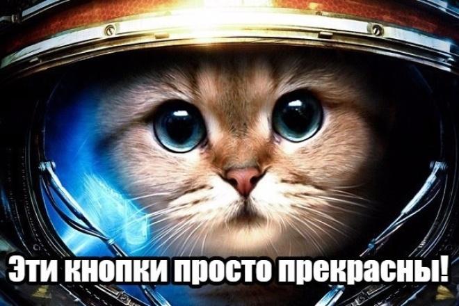Установка красивых кнопок соцсетей 1 - kwork.ru