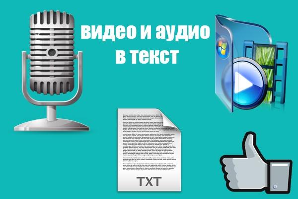 выполню транскрибацию аудио или видео 1 - kwork.ru