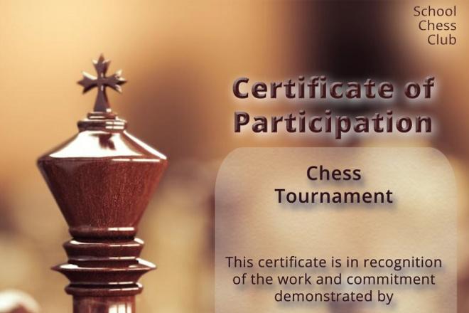 Создаю дизайн сертификатов, дипломов, грамот и т.п. по вашей тематике 1 - kwork.ru