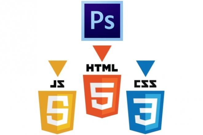 Верстка PSD to htmlВерстка и фронтэнд<br>Качественно и максимально быстро сверстаю html страницу из Вашего PSD макета! Приветствую! Меня зовут Илья. Я уже более года разрабатываю сайты и постоянно совершенствую свои навыки в этом. Использую Bootstrap, FlexBox, CSS3, в общем всё лучшее, что позволяет достичь желаемого результата. Подробнее о выполнении заказа: а). 1 кворк = один тип страниц без дополнительных опций! С простым дизайном, без наворотов. (Кроссбраузерность: IE 9+, Opera, Mozzilla Firefox, Google Chrome). б). Простой дизайн в моем понимании, это: Шапка, Меню (Обычное, не выпадающее меню), Основная информация, 1 Боковая колонка, Футер (подвал). То есть 2-х колоночный дизайн без дополнительного функционала с фиксированной шириной. Если нужны дополнительные опции на странице, такие как: выпадающее меню, дополнительная боковая колонка, дополнительное меню, форма обратной связи, слайдер и т.д., или страницы НЕ однотипные, пожалуйста, выберите необходимые опции, при заказе кворка.<br>