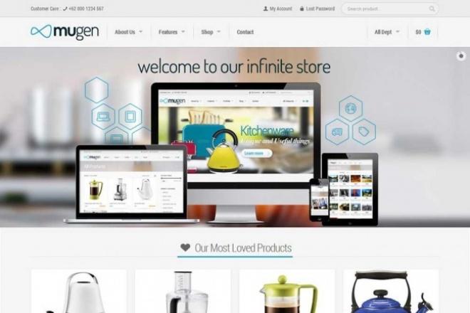 "Премиум тема на  WordPress ""Mugen"" 1 - kwork.ru"