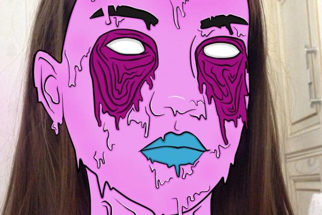 нарисую портрет в стиле Grime Art 1 - kwork.ru