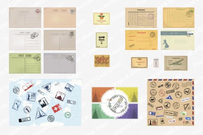 выполню иллюстрацию с изображением старых конвертов, печатей, бланков 1 - kwork.ru