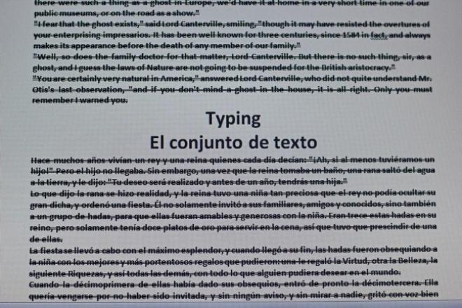 Набор текста на иностранном языкеНабор текста<br>Наберу текст на английском или испанском языках со сканированных или отпечатанных страниц. Также могу набрать несложный текст с аудиозаписи длительностью не более 1 минуты на английском языке.<br>