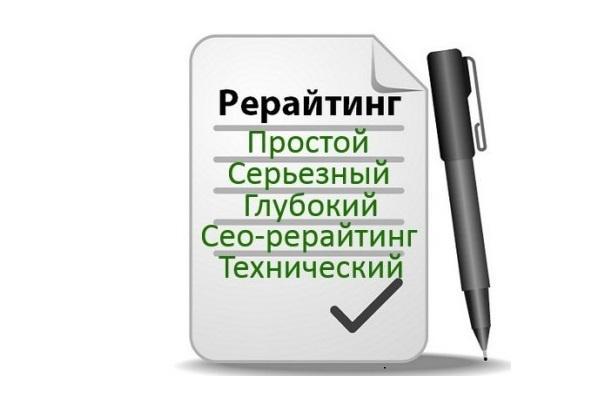 Глубокий рерайт текстов и статей 1 - kwork.ru