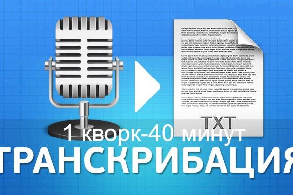 Сделаю транскрибацию с видео или аудио 1 - kwork.ru