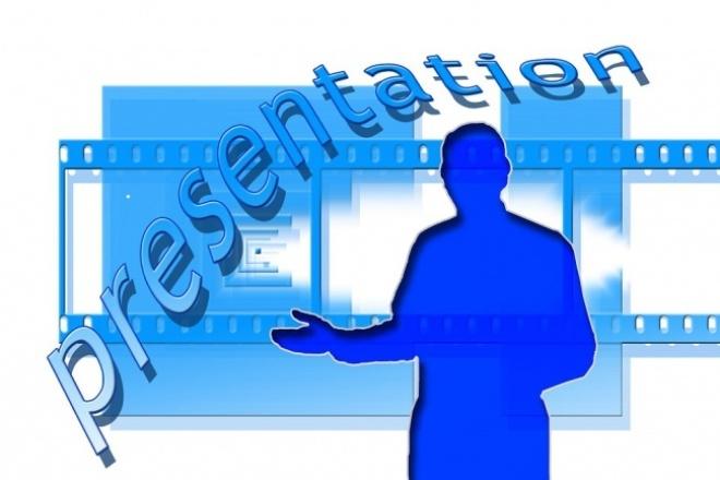 Профессиональная презентация в лучших сервисахПрезентации и инфографика<br>Создам презентацию по заданной теме в программах PowerPoint, Google, Prezi, PowToon в соответствии с темой выступления и аудиторией или в другой, выбранной вами программе.<br>